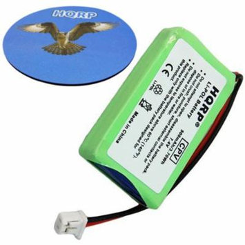 HQRP Battery for Dogtra 2300-NCP Advance, 2302-NCP Advance, 2500-T&B Remote Controlled Dog Training Collar Receiver + HQRP Coaster