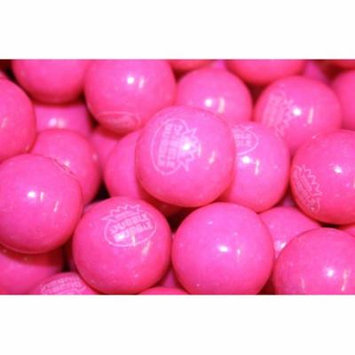 BAYSIDE CANDY GUMBALLS PINK LEMONADE BUBBLE GUM 25mm or 1 inch , 1LB
