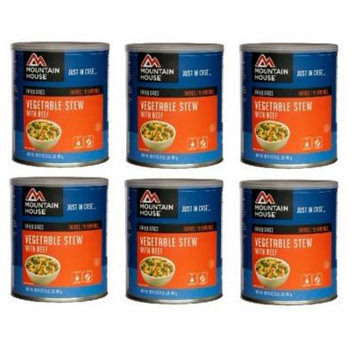 Mountain House Freeze Dried Food Vegetable Stew With Beef-6 Cans Combos