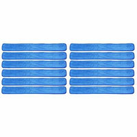 12 Pack 48 inch Commercial Microfiber Wet Mop Refill Pads for Flat 48 Inch Microfiber Mop Frames