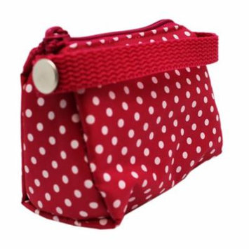 Paci Pouch Pacifier Holder - Pink & White Polka Dot