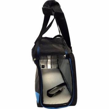 Pet Carrier Soft Sided Cat / Dog Comfort Travel Tote Bag Blue and Black Pet Bag