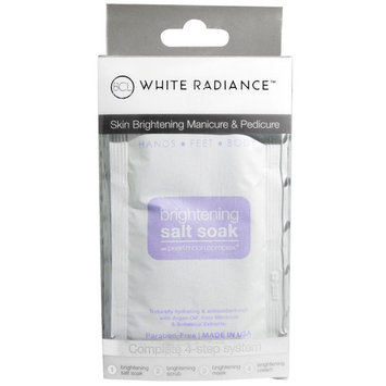Petal Fresh, White Radiance, Hands, Feet and Body, Brightening Salt Soak, 4 Piece Kit