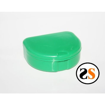 Dental Retainer Denture Mouthguard Case -Green