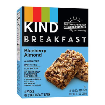 KIND Breakfast Bars, Blueberry Almond, Gluten Free, Non GMO, 1.8oz, 32 Count [Blueberry Almond]