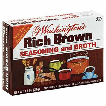 George Washington Rich Brown seasoning and Broth 1.1 OZ (Pack of 6)