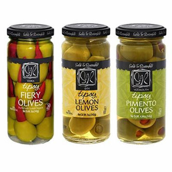 Sable & Rosenfeld - Assorted Three Pack 5oz (Gin Lemon Olives, Fiery Olives, Pimento Olives)