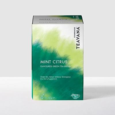 STARBUCKS TEAVANA MINT CITRUS FLAVOURED GREEN TEA BAGS BLEND