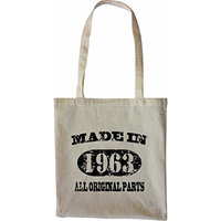 Mister Merchandise Tote Bag Made in 1963 All Original Parts 52 53 Shopper Shopping , Color [Black]