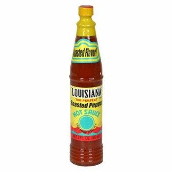 Louisiana Roasted Red Pepper Hot Sauce, 3oz Bottle 6pk