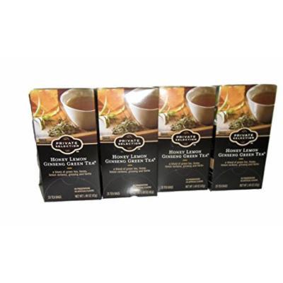 Private Selection Honey Lemon Ginseng Green Tea 4 Boxes 20 Per Box