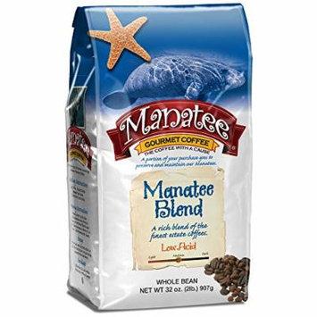 Manatee Whole Bean Coffee, Blend, 2 Pound