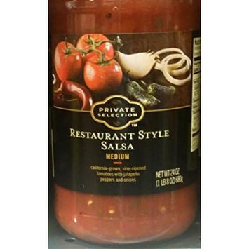 Private Selection Restaurant Style Salsa Medium 24 oz (Pack of 2)