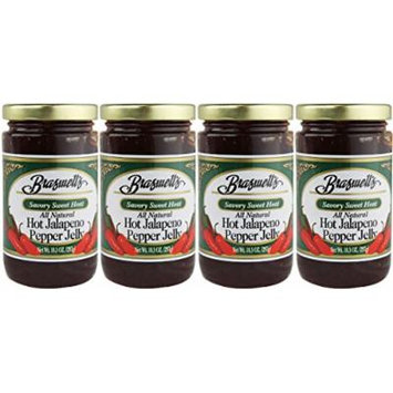 Braswell Hot Jalapeno Pepper Jelly (Pack of 4)