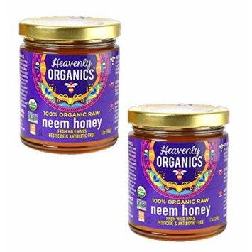 Heavenly Organics USDA Certified 100% Organic Raw Honey, 12oz (Neem, 2)