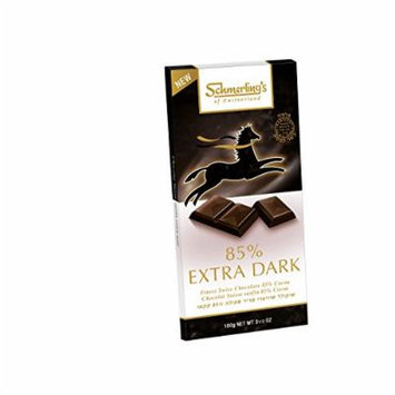 Schmerling's 85% Cocoa Extra Dark (5 Pack), kosher for Passover Swiss Chocolate