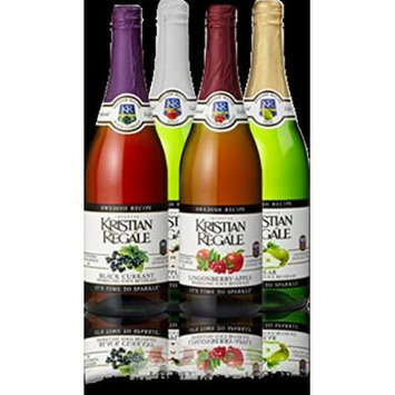 Kristian Regale Sparkling Fruit Juices 4 Packs (Swedish Variety Pack)