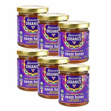 Heavenly Organics USDA Certified 100% Organic Raw Honey, 12oz (Neem, 6)