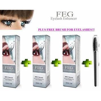 3 X FEG Eyelash enhancer. The most powerful eyelash growth Serum 100% Natural. Promote rapid growth of eyelashes. 100% Original with Anti-Fake sticker!!!