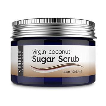 Virgin Coconut Sugar Scrub by VEBELLE Skin Care the Anti Aging Company - 3.4oz