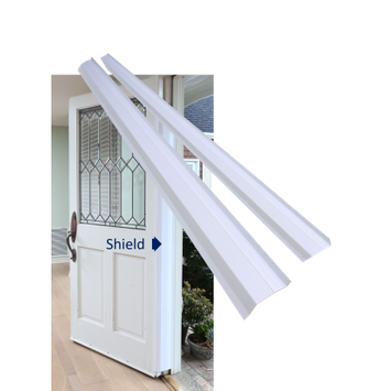 Pinch-Not Door Finger Hinge-Side Child Safety Guard Shield Protector, Home Model for 180-Degree Doors Set