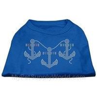 Ahi Rhinestone Anchors Shirts Blue XL (16)