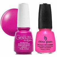China Glaze Gelaze Tips and Toes Nail Polish, Hang-Ten Toes, 2 Count