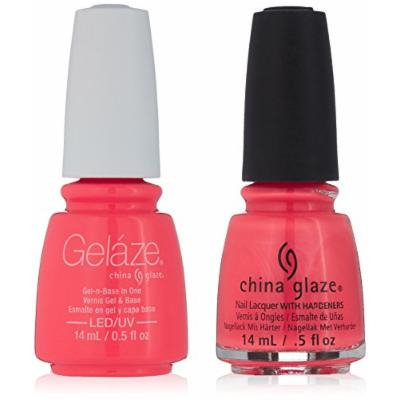 China Glaze Gelaze Tips and Toes Nail Polish, Surfin' for Boys, 2 Count
