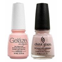 China Glaze Gelaze Tips and Toes Nail Polish, Diva Bride, 2 Count