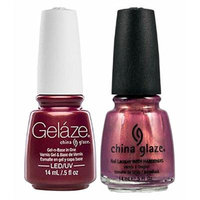 China Glaze Gelaze Tips and Toes Nail Polish, Awakening, 2 Count