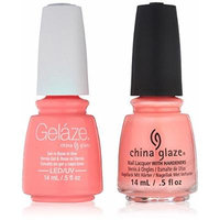 China Glaze Gelaze Tips and Toes Nail Polish, Neon & On & On, 2 Count