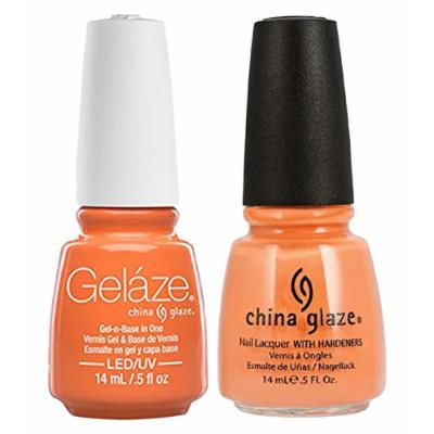 China Glaze Gelaze Tips and Toes Nail Polish, Peachy Keen, 2 Count