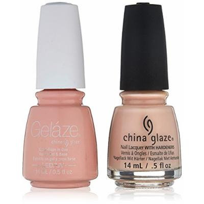 China Glaze Gelaze Tip & Toes Nail Lacquer, Sand in My Mistle Toes, 2 Count