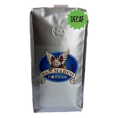 San Marco Coffee Decaffeinated Flavored Whole Bean Coffee, Blueberry, 1 Pound