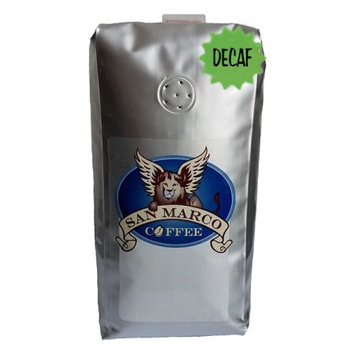 San Marco Coffee Decaffeinated Flavored Ground Coffee, Bean Nutty, 1 Pound