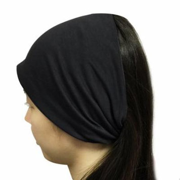 Wrapables® Wide Fabric Headband, Onyx