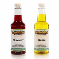Hawaiian Shaved Ice Strawberry-Banana Flavor Syrup, 16 oz (2 Pack)