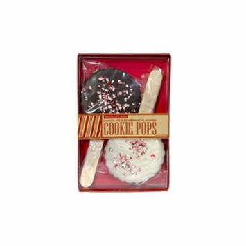 Cookie Pop Wafer Chocolate Peppermint Lollipop 2 Pack, 3 Count