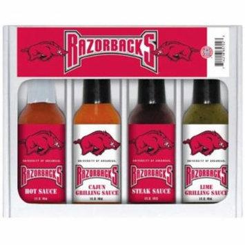 Hot Sauce Harrys 5702 ARKANSAS Razorbacks Mini Grilling Set - 5oz