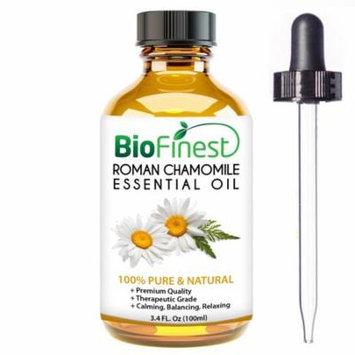 BioFinest Roman Chamomile Oil - 100% Pure Roman Chamomile Essential Oil - Premium Organic - Therapeutic Grade - Aromatherapy - Ease Stress - Long Restful Sleep - FREE E-Book and Dropper (100ml)