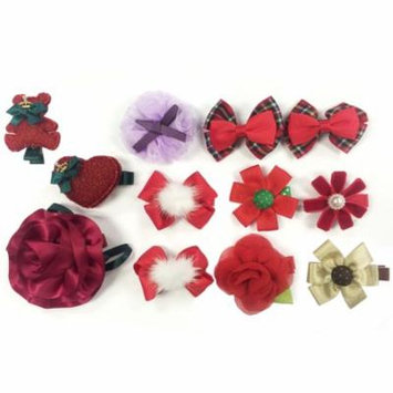 Wrapables® Red and Bold Hair Accessories (Set of 12)