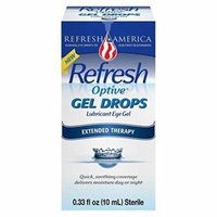 4 Pack Refresh Optive Gel Drops Lubricant Eye Gel Extended Therapy .33 Oz Each