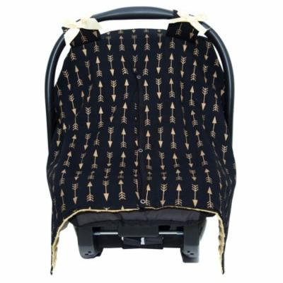 Jlika Car Seat Canopy Cover Black Gold Arrow
