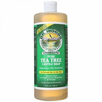 Dr. Woods Pure Castile Soap, Tea Tree, 32 Ounce