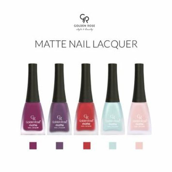 Golden Rose Matte Nail Polish Set of 5. Set 3