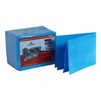 Georgia Pacific Brawny Dine-A-Wipe Foodservice Busing Towel Blue, 17