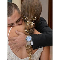FXmimior 3 PCS Bridal Women Vintage Wedding Party Hair Pins Crystal Hair Accessories (G