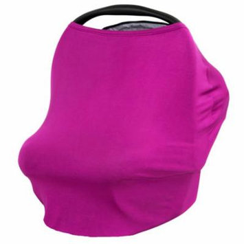 JLIKA Baby Car Seat Canopy Cover and Stretchy Nursing Cover - Plum