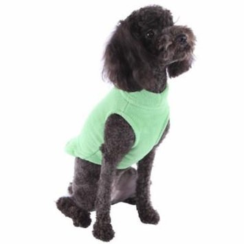 Soft Stretchable Fleece Pullover Vest for Small and Big Dogs, Grass Green, Small