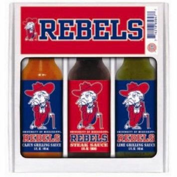 Hot Sauce Harrys 5647 MISSISSIPPI - Ole Miss - Rebels Mini Grilling Set - 5oz